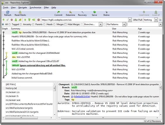 wix - Repository Explorer